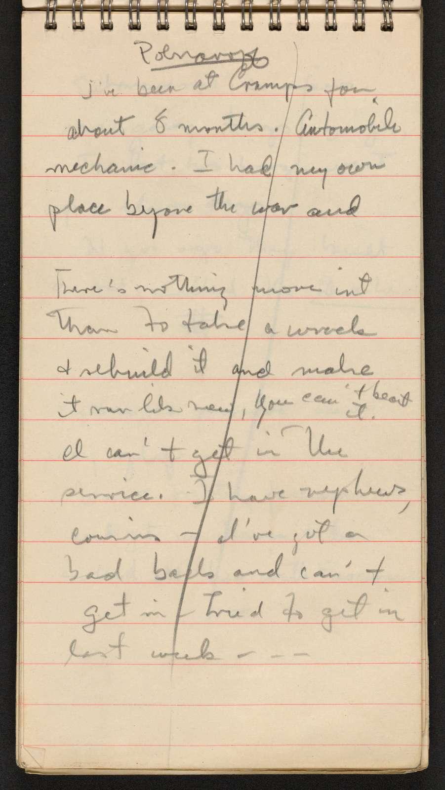 Alan Lomax Collection, Manuscripts, Philadelphia, PA, 1943