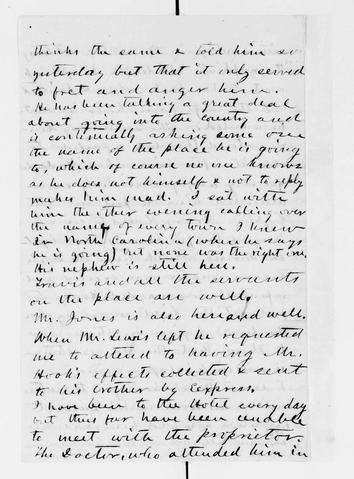 Alexander Hamilton Stephens Papers: General Correspondence, 1784-1886; 1862, Mar. 29-Apr. 29