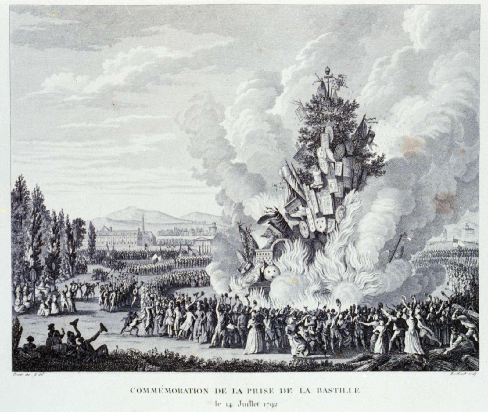 Commemoration de la prise de la Bastille, le 14 Juillet 1792 / Prieur inv. & del. ; Berthault sculp.