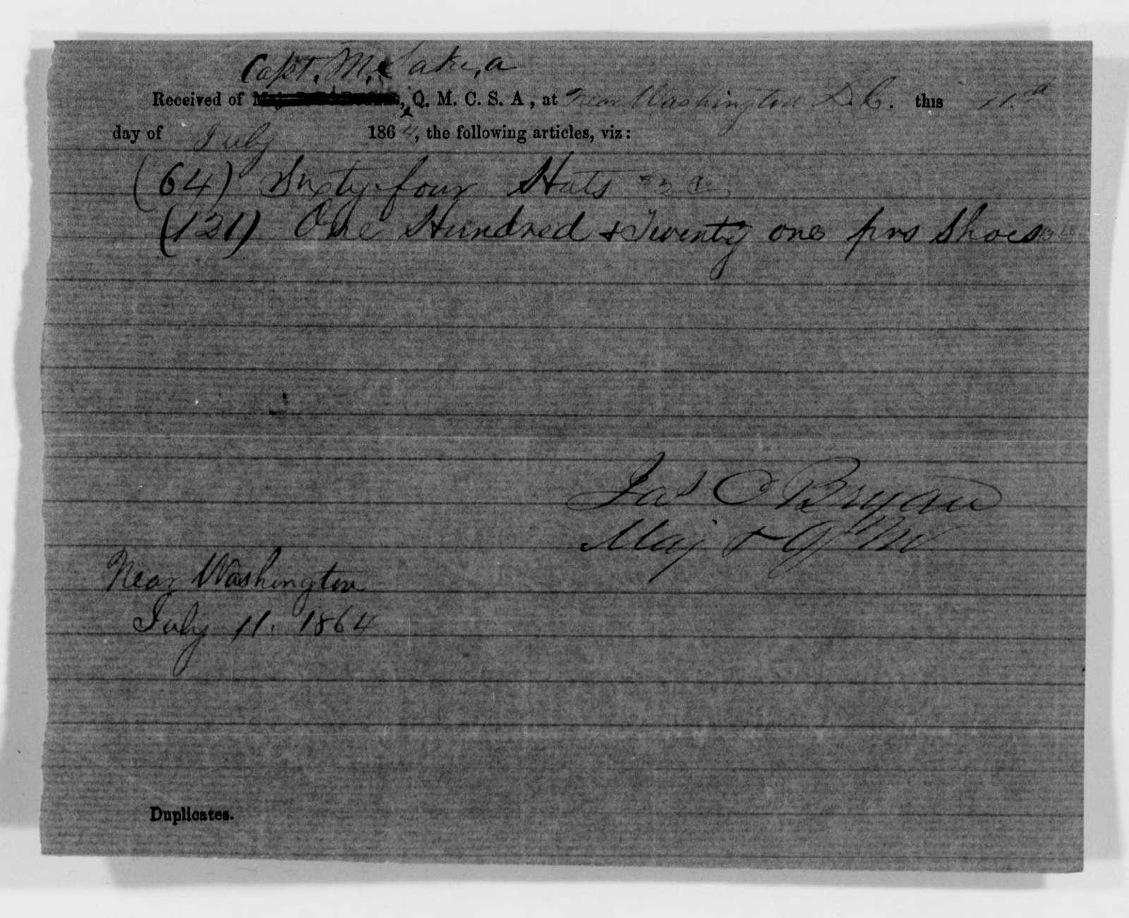 Confederate States of America records: Microfilm Reel 66