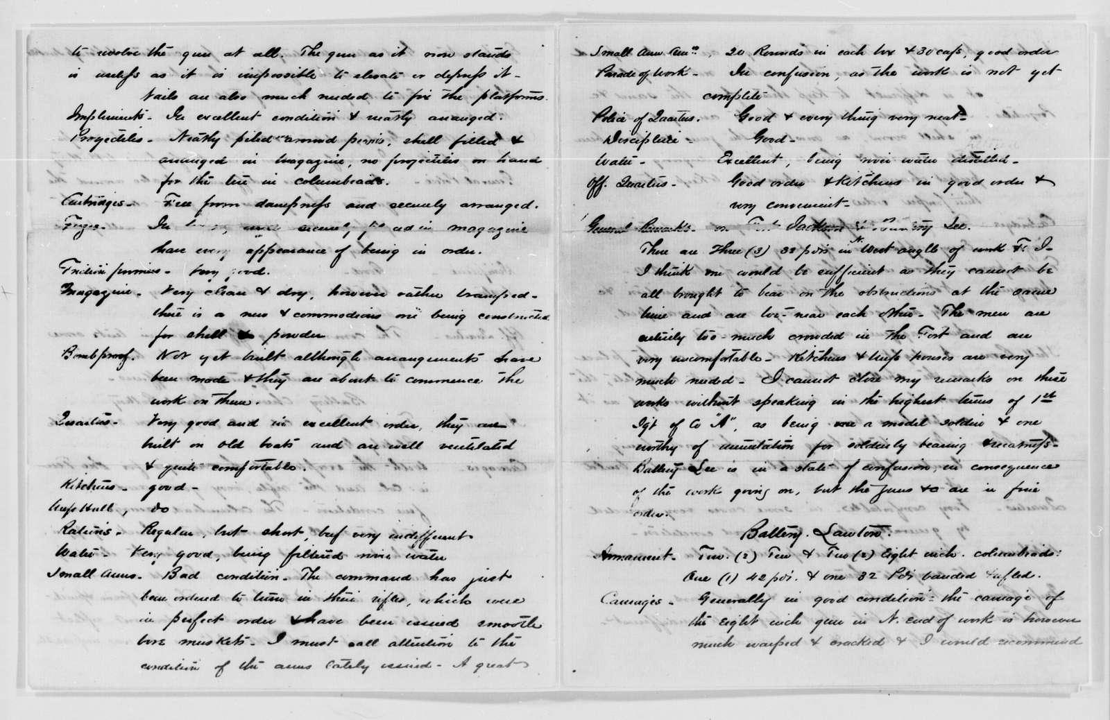 Confederate States of America records: Microfilm Reel 68