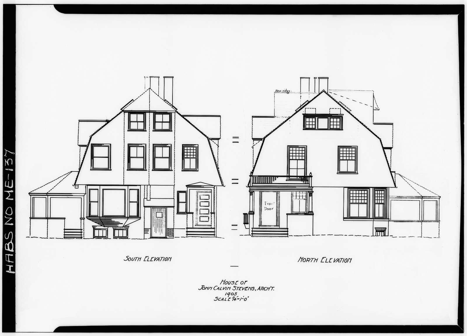 John Calvin Stevens House, 52 Bowdoin Street, Portland, Cumberland County, ME