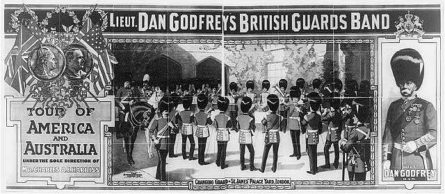 Lieut. Dan Godfrey's British Guards Band tour of America and Australia under the sole direction of Mr. Charles A.E. Harriss.