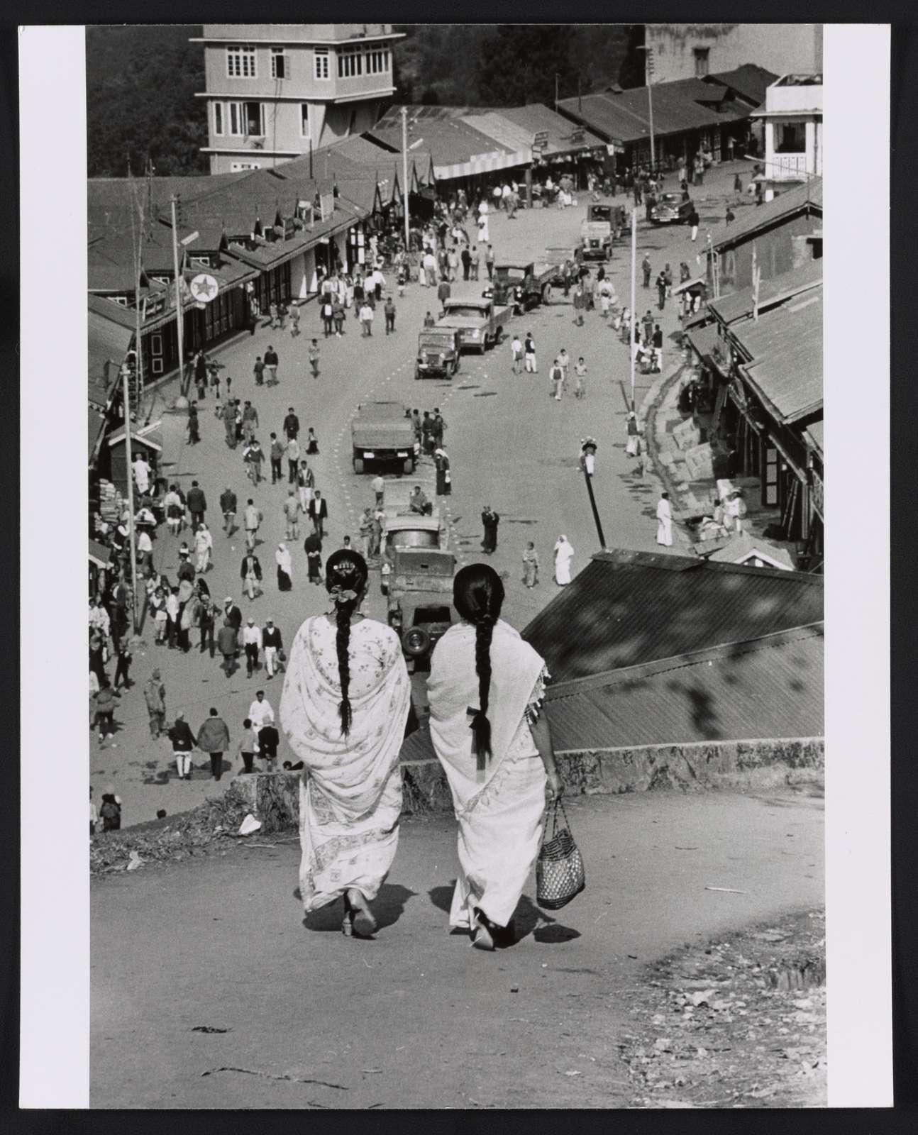 [Looking toward downtown Gangtok, the Capital of Sikkim]