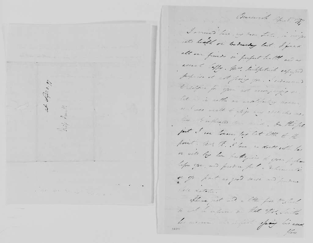 Margaret Bayard Smith Papers: Family Correspondence, 1789-1842; Smith, Mary Ann; 1797-1800