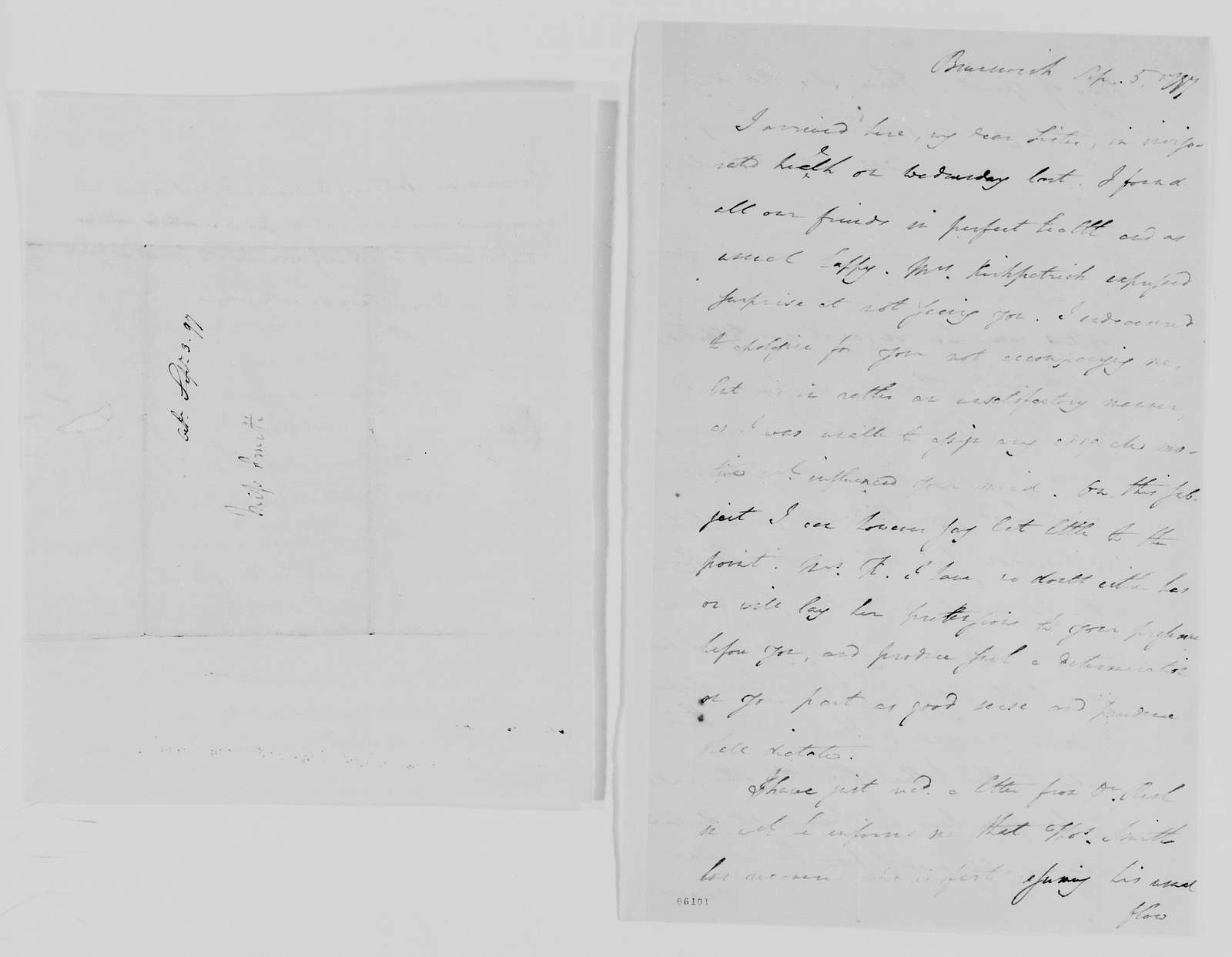 Margaret Bayard Smith Papers: Family Correspondence, 1789-1842; Smith, Mary Ann; 1797-1800