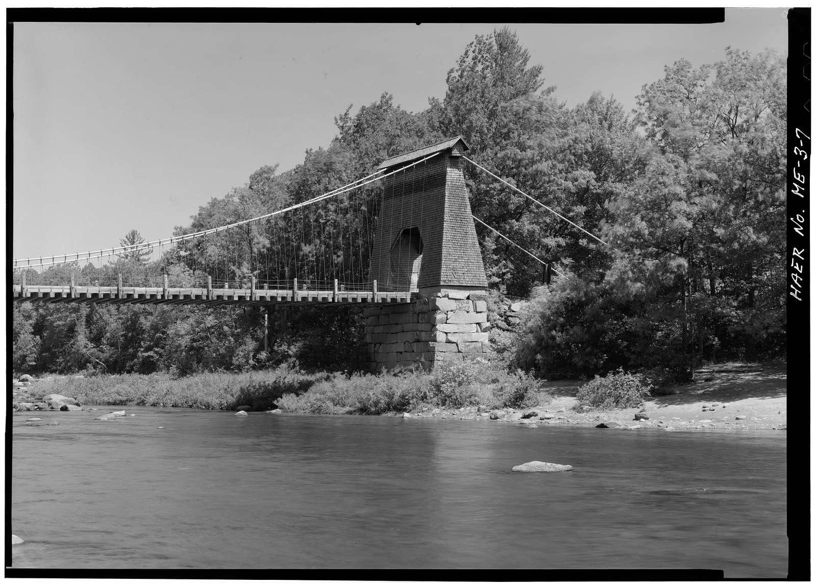 New Portland Suspension Bridge, Spanning Carrabasset River, New Portland, Somerset County, ME