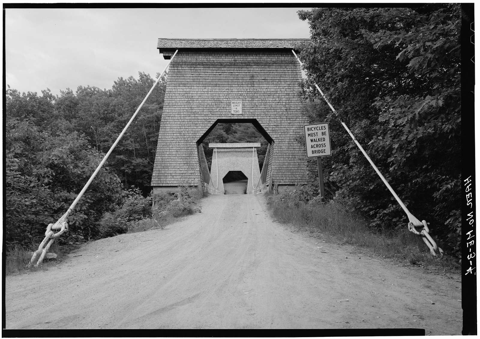 New Portland Suspension Bridge, Spanning Carrabasset River, New Portland, Somerset County, ME