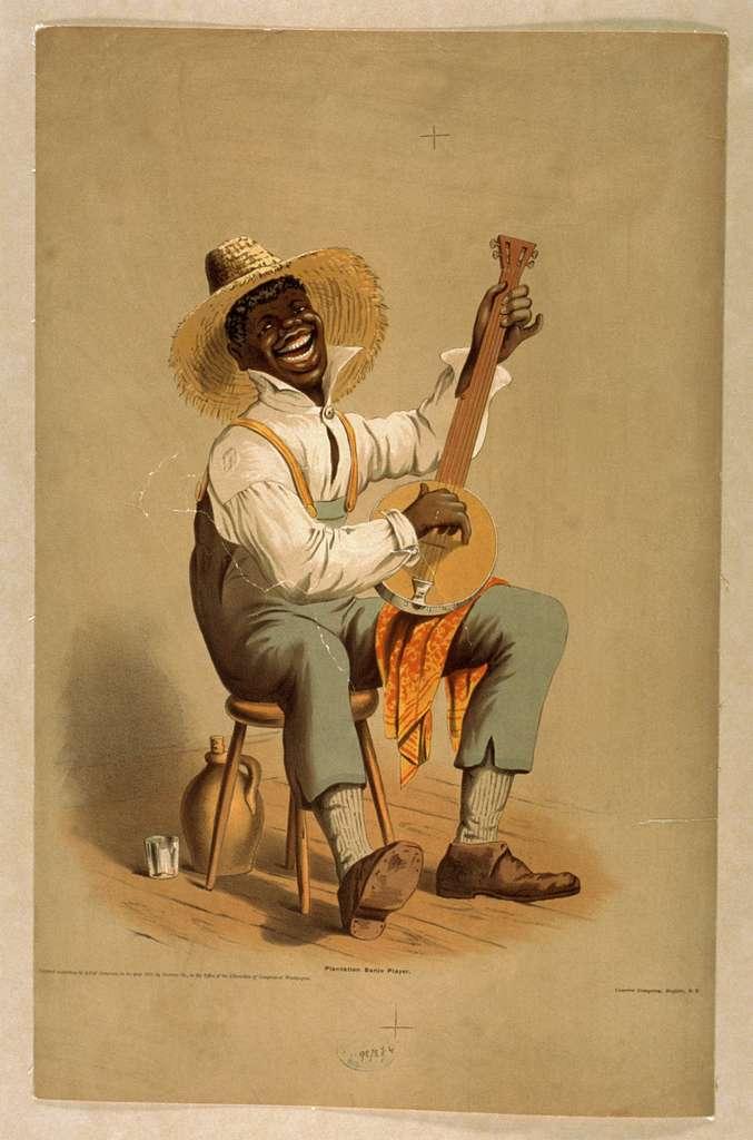 Plantation banjo player