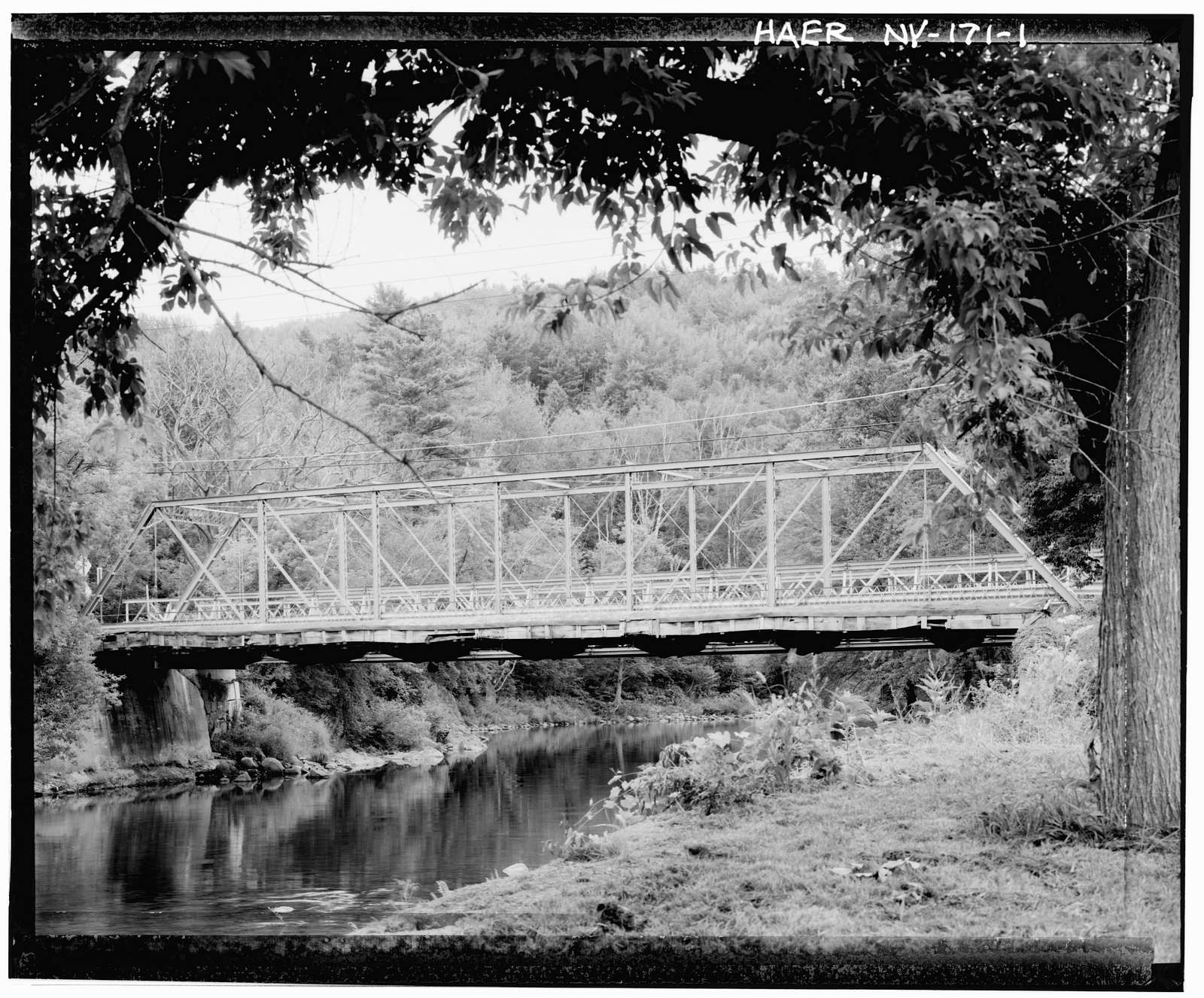 Rolling Hill Mill Road Bridge, Grove Road, spanning east branch of AuSable River, Au Sable Forks, Essex County, NY
