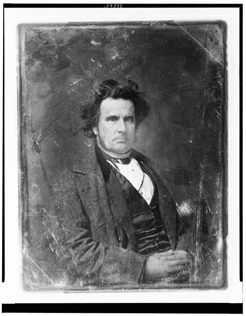 [Rufus Blakeman, half-length portrait, three-quarters to the right, facing front, hands folded in lap]