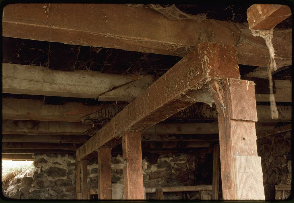 Support Framing under Barn - PICRYL Public Domain Image