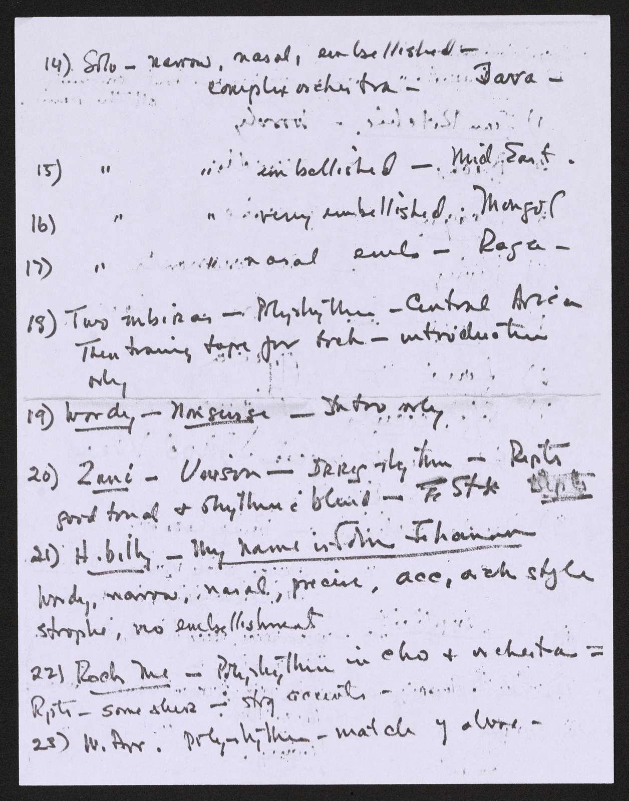 Alan Lomax Collection, Manuscripts, T9160-9189