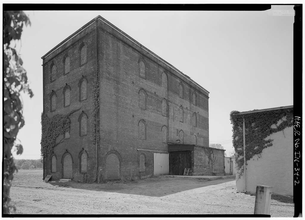 Cerealine Manufacturing Company, Mill A, Jackson & Brown Streets, Columbus, Bartholomew County, IN