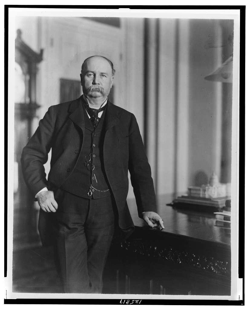 [Garrett A. Hobart, three-quarter length portrait, standing, facing front]