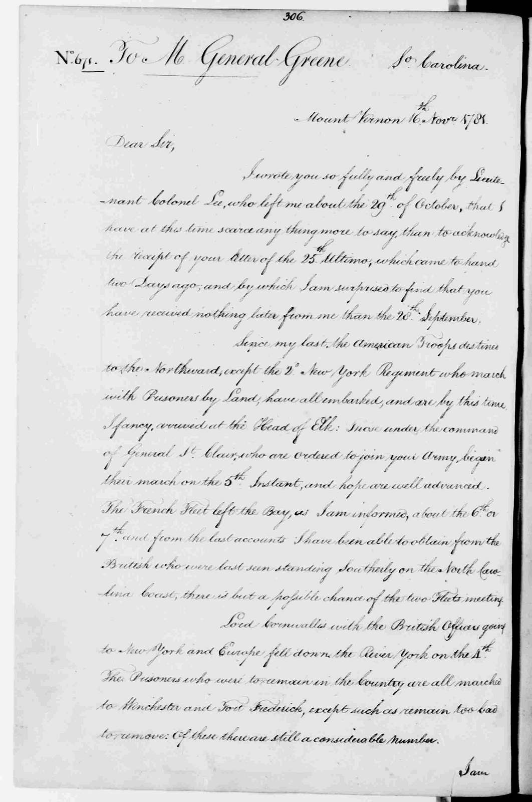 George Washington Papers, Series 3, Varick Transcripts, 1775-1785, Subseries 3B, Continental and State Military Personnel, 1775-1783, Letterbook 14: June 11, 1781 - Feb. 28, 1782