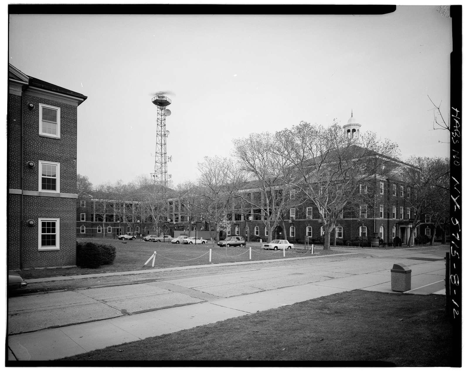 Governors Island, Infantry Regimental Barracks, New York Harbor, Clayton Road between Wheeler & King, New York, New York County, NY