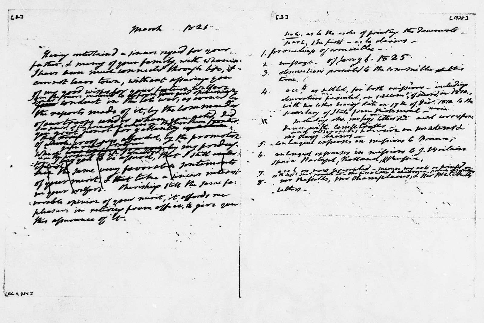 James Monroe Papers: Series 2, Additional Correspondence, 1776-1838; 1792 Oct. 20-1838 Nov. 14, undated (Reel 10)