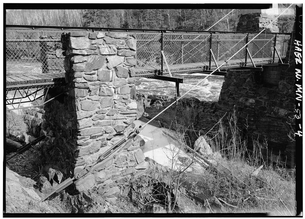 Jay Cooke State Park, Pedestrian Suspension Bridge, Minnesota Highway 210, crossing St. Louis River, Thomson, Carlton County, MN