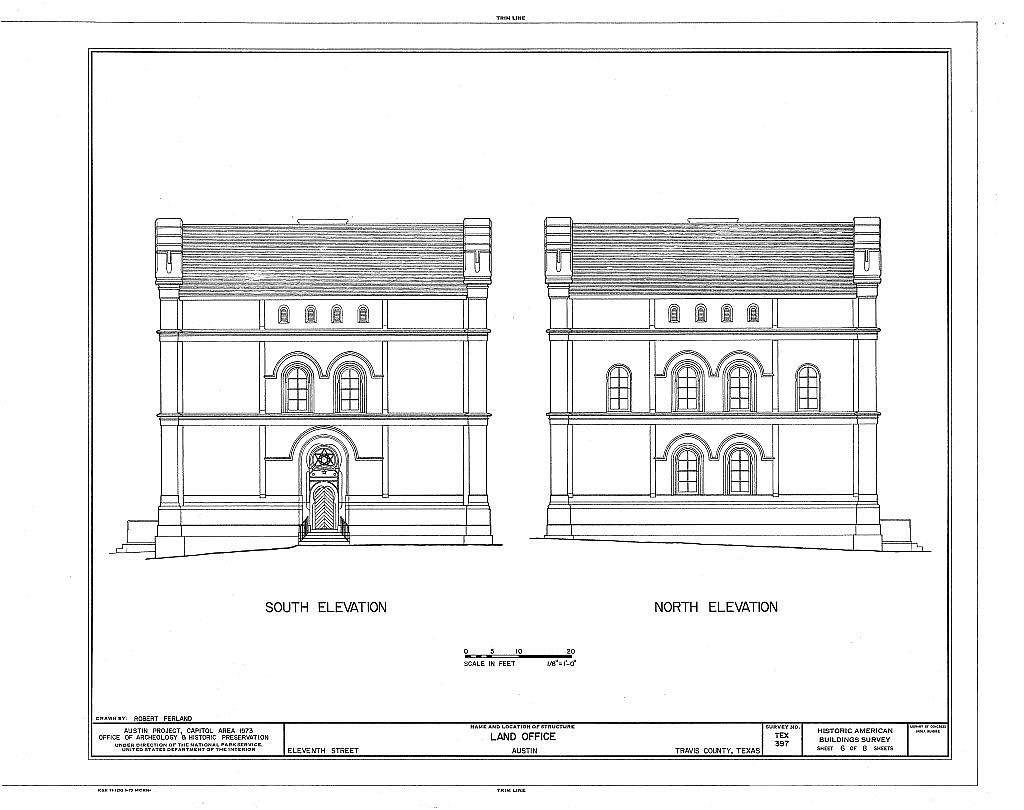 Land Office, 108 East Eleventh Street, Austin, Travis County, TX