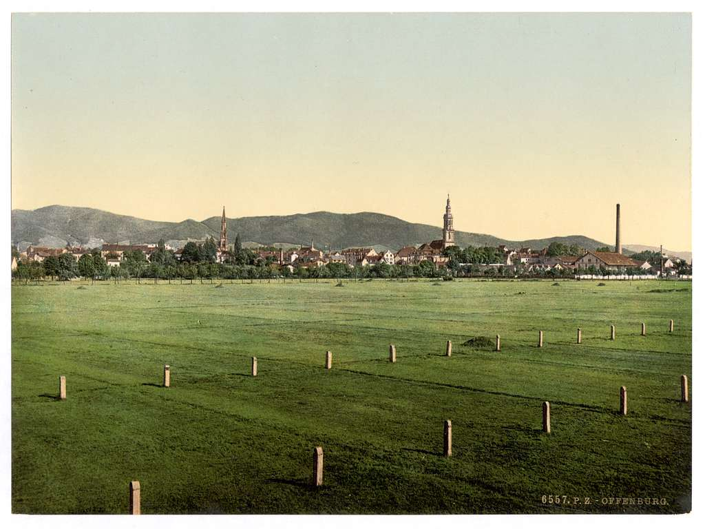 [Offenburg, general view, Baden, Germany]