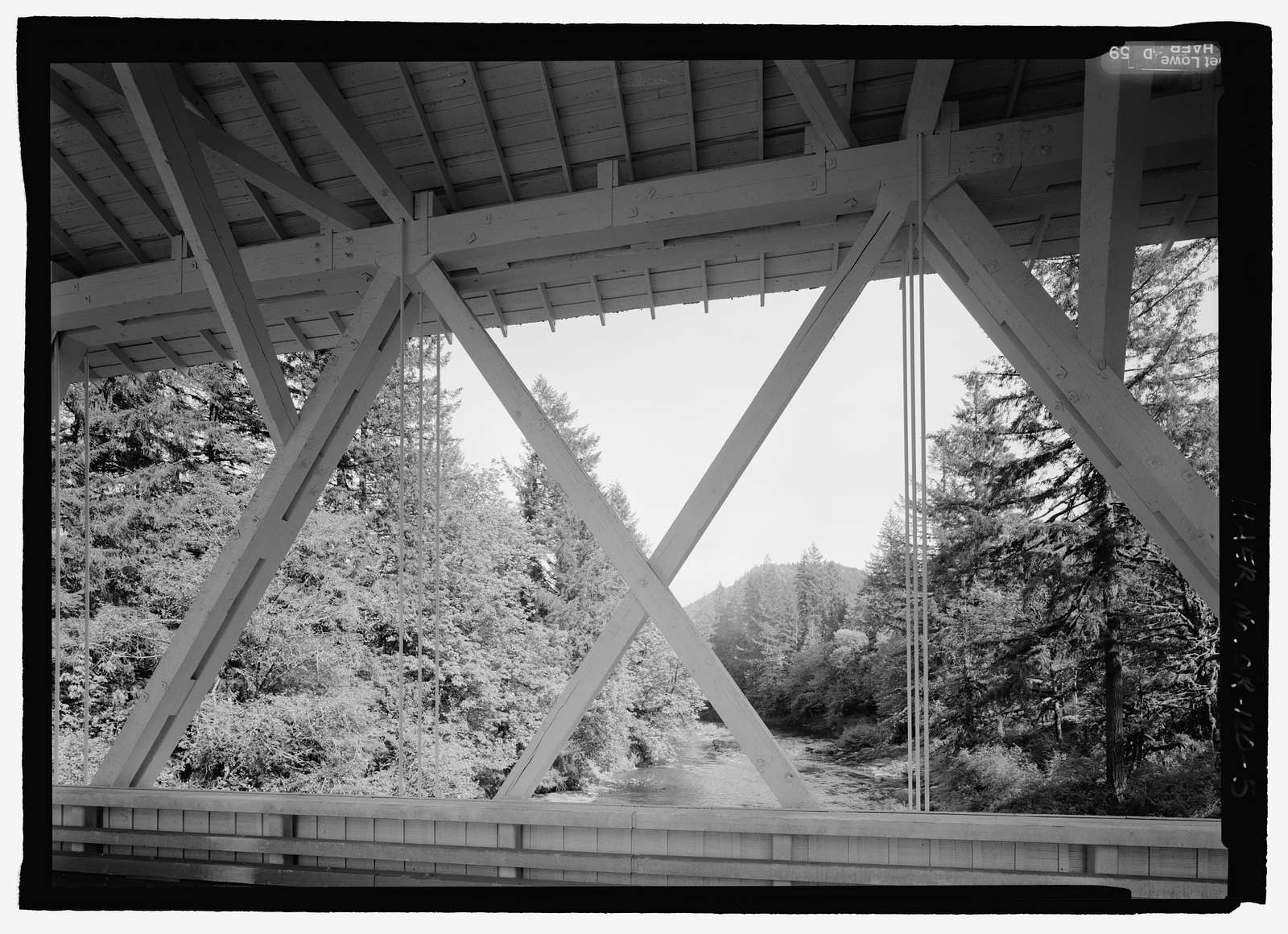 Short Bridge, Spanning South Santiam River at High Deck Road, Cascadia, Linn County, OR