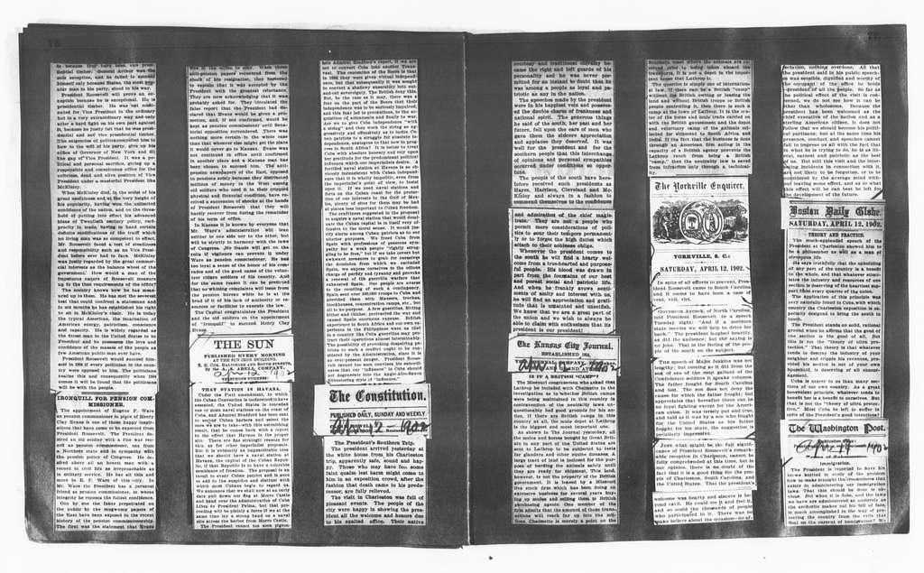 Theodore Roosevelt Papers: Series 15: Scrapbooks, 1895-1910; Editorial Comment; Vols. 1-6, 1901, Sept. 19-1902, Nov. 29