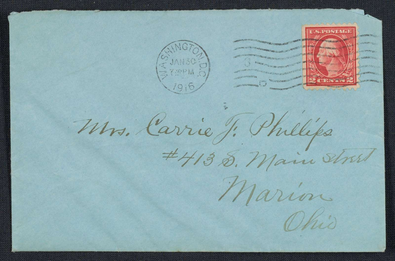 Warren G. Harding-Carrie Fulton Phillips Correspondence: Correspondence and drafts of correspondence; 1916; Jan.-Feb.