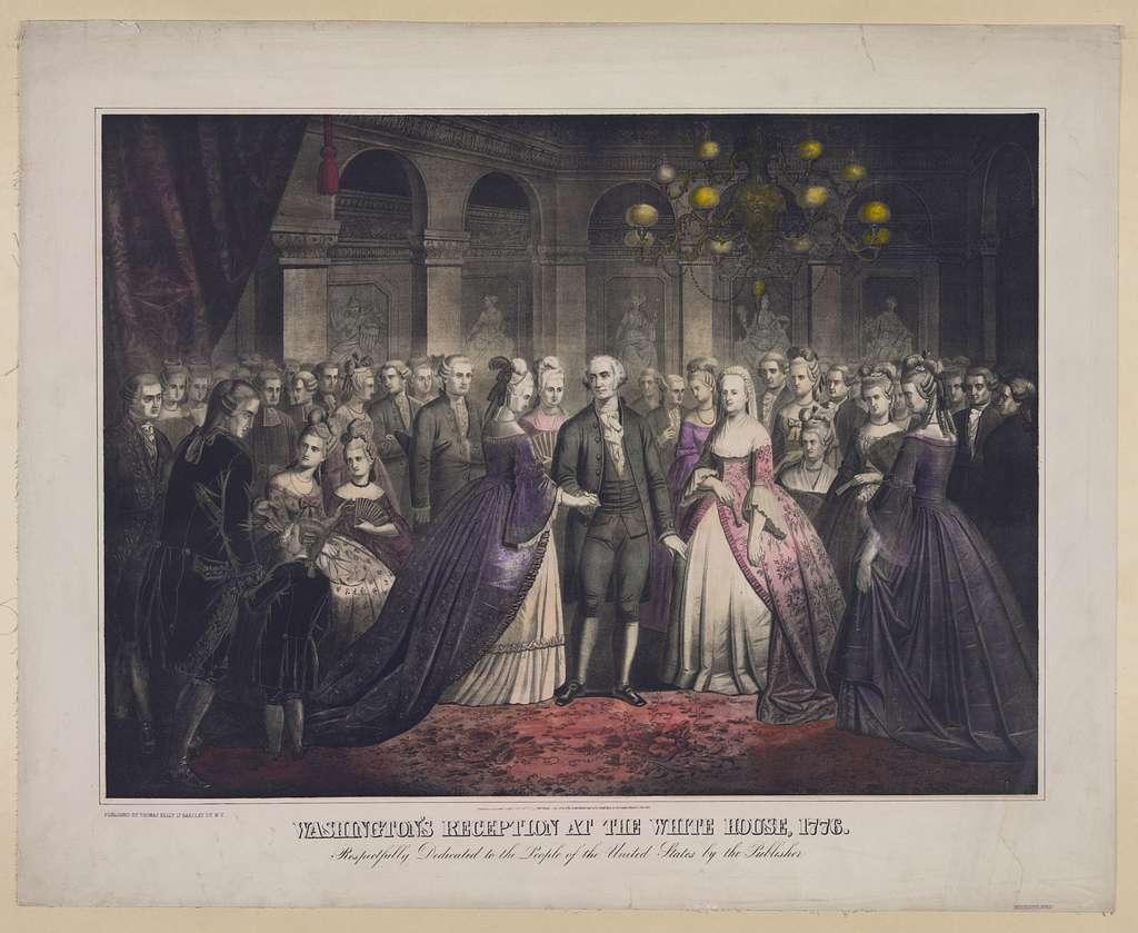 Washington's reception at the White House 1776