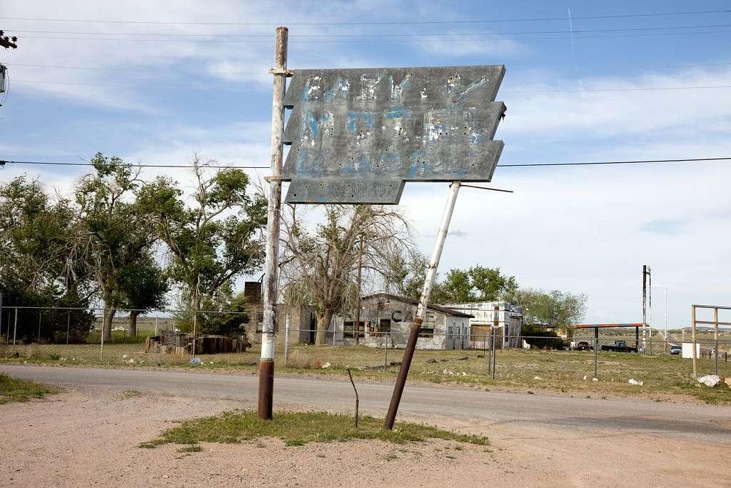 Old motel sign, Truxton, Arizona