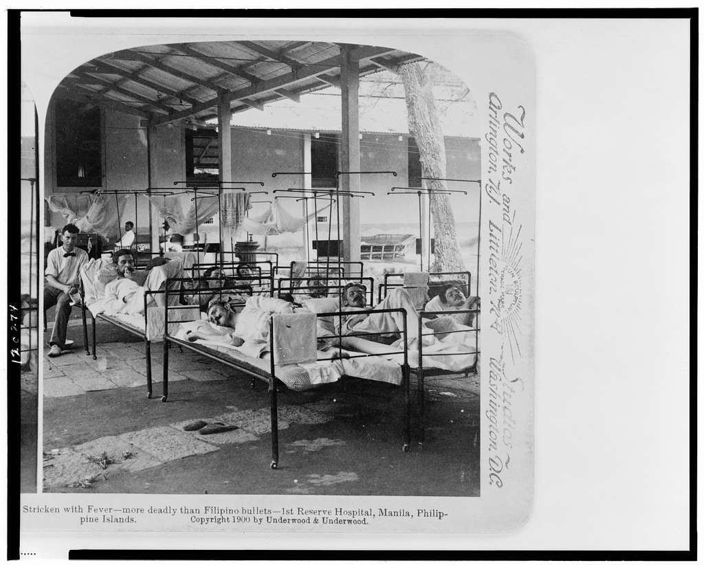 Stricken with fever - more deadly than Filipino bullets - 1st Reserve, Hospital, Manila, Philippine Islands