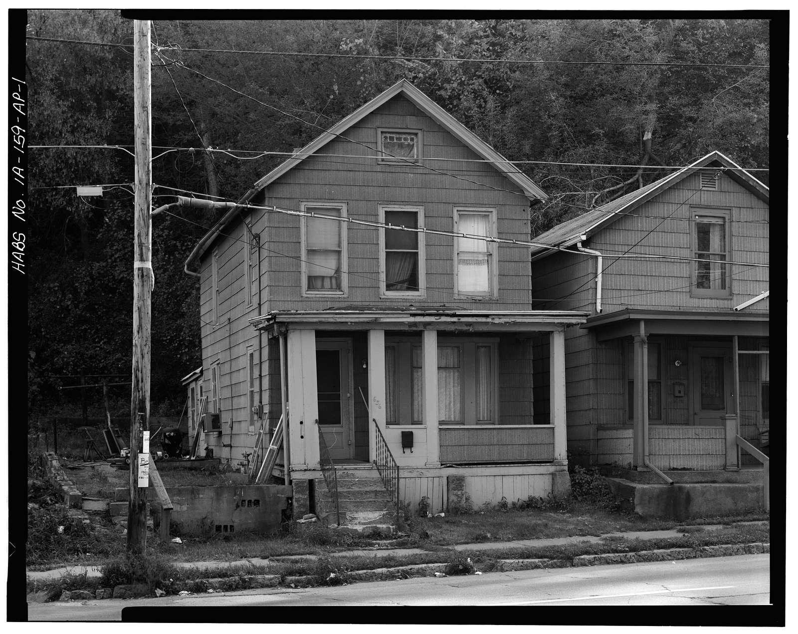 Workingmen's Houses, Patrick Scarry House, 636 Dodge Street, Dubuque, Dubuque County, IA