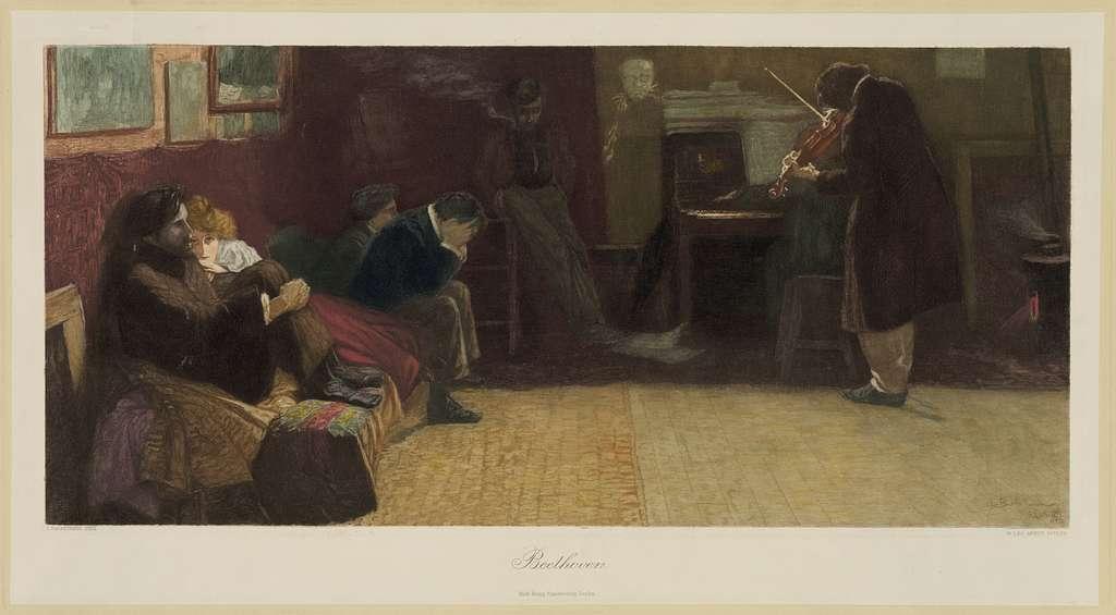 Beethoven / L. Balestrieri pinx Paris ; W. Leo Arndt sculps.