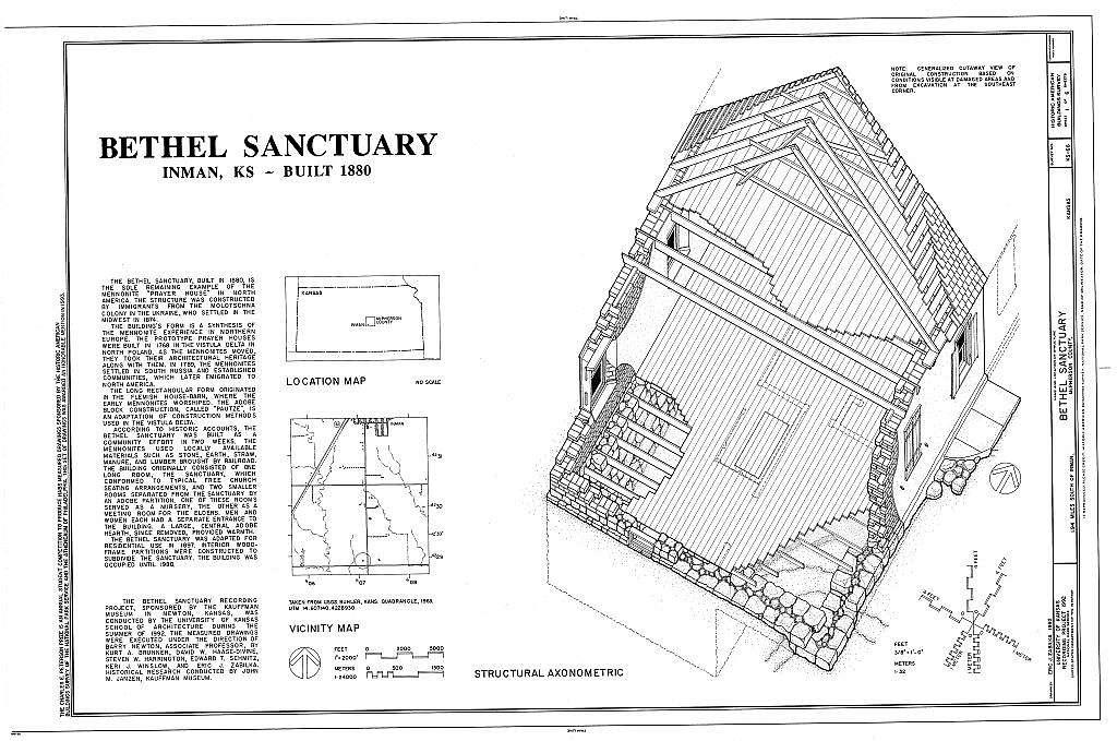 Bethel Sanctuary, Inman, McPherson County, KS