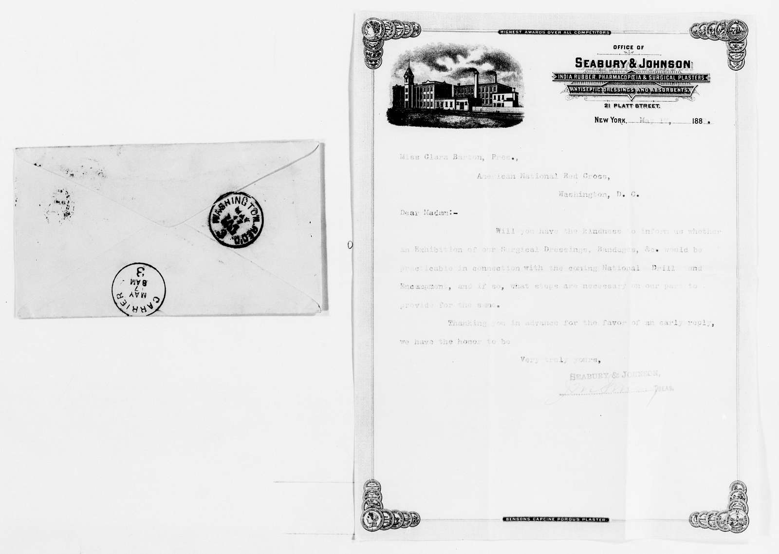 Clara Barton Papers: Red Cross File, 1863-1957; American National Red Cross, 1878-1957; Drills and encampments; National Drill and Encampment, Washington, D.C., 1887