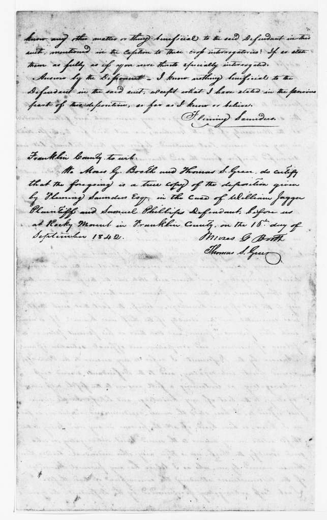 Theodore Roosevelt Papers: Series 1: Letters and Related Material, 1759-1919; 1759, Aug.-1898, May