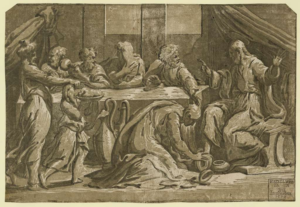 Christ at the table of Simon the Pharisee / Raphel VRB in Ven, In Mantoua, 1609.