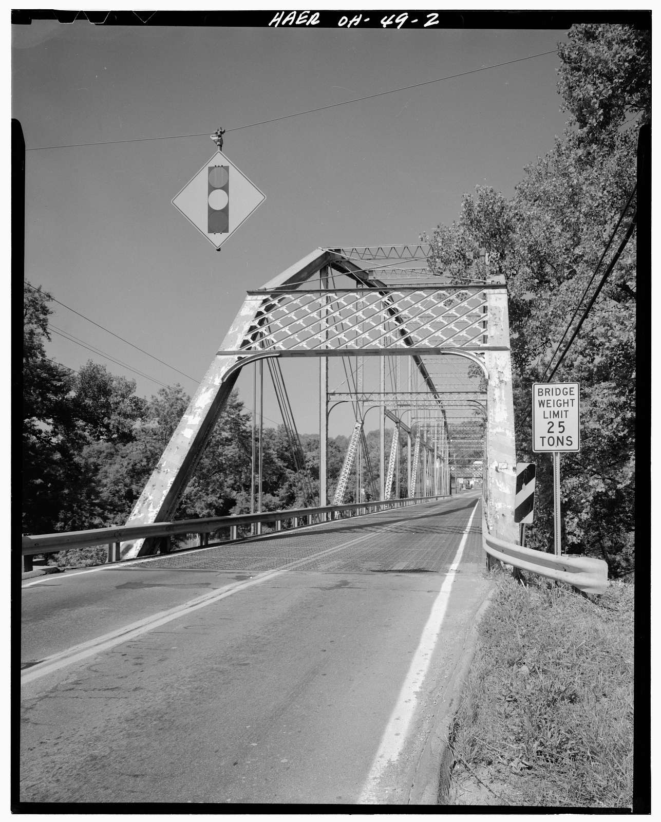 Harrison Road Camelback Through Truss Bridge, Spanning Great Miami River at Harrison Road (Route 457), Miamitown, Hamilton County, OH
