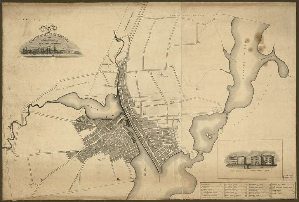 Map of the town of Providence : from actual survey /