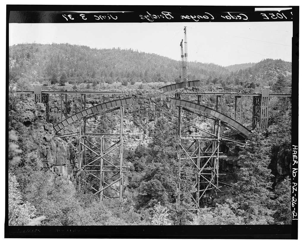 Cedar Canyon Bridge, Spanning Cedar Canyon at Highway 60, Show Low, Navajo County, AZ