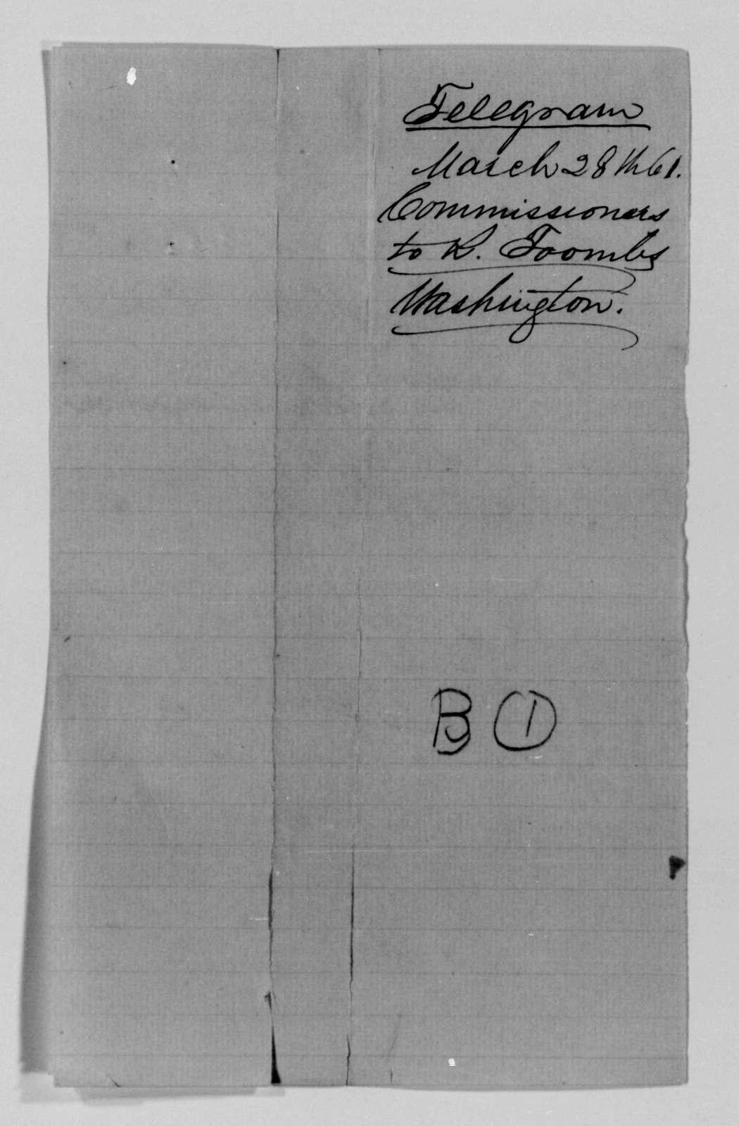Confederate States of America records: Microfilm Reel 1