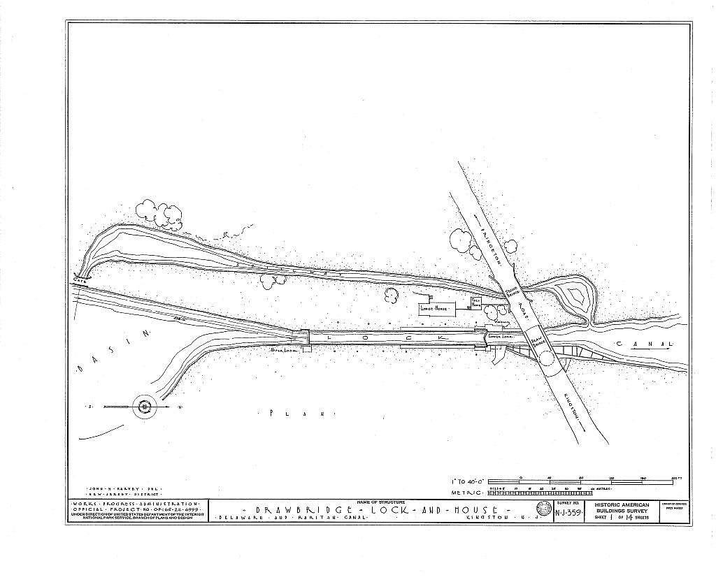 Delaware & Raritan Canal, Drawbridge, Lock & Tollhouse, Delaware & Raritan Canal, Heathcote, Middlesex County, NJ
