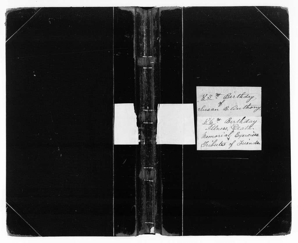 Susan B. Anthony Papers: Scrapbooks, 1876-1934; 1905-1906; Vol. 3