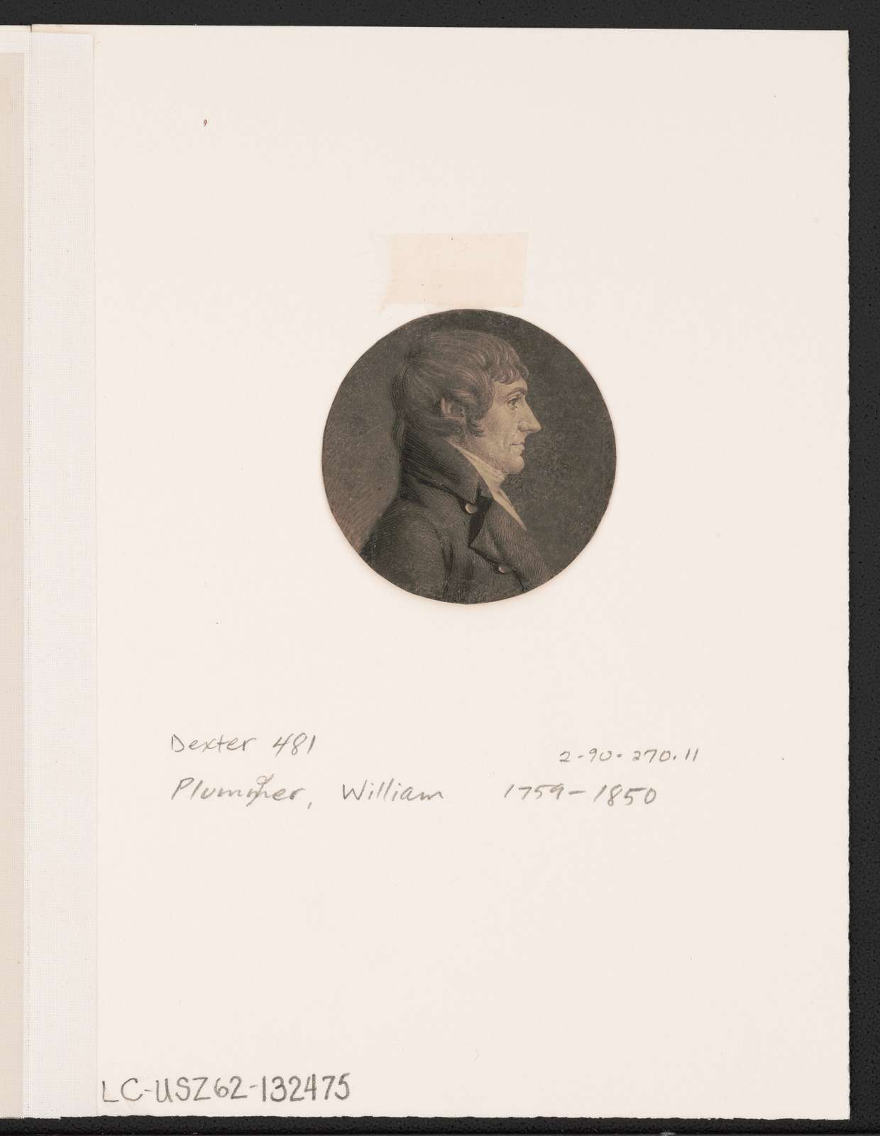 [William Plumer, head-and-shoulders portrait, right profile]