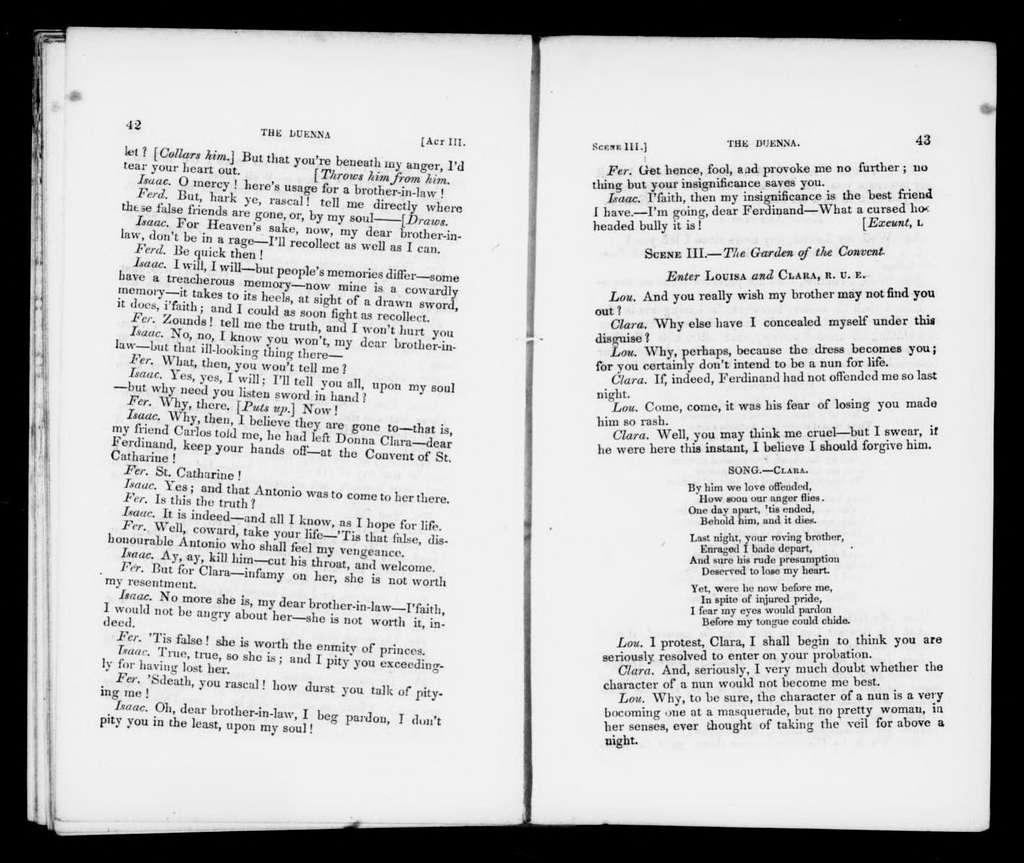 Duenna. Libretto. English