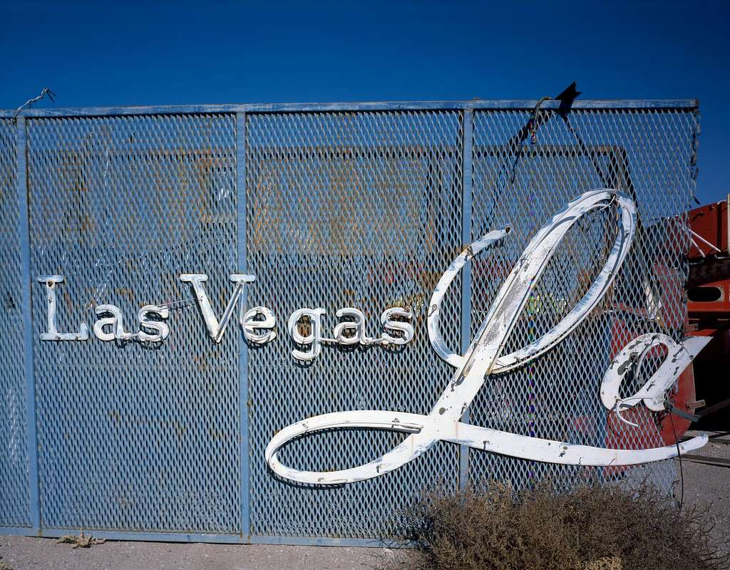 Remnant of Old Las Vegas, Nevada, from the days before the Strip brought glittering, multi-million-dollar casino resorts to the valley