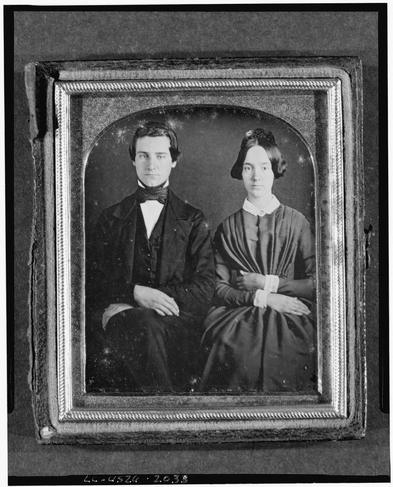 [Erasmus Darwin and Emily Cooper, three-quarter length portrait, seated]