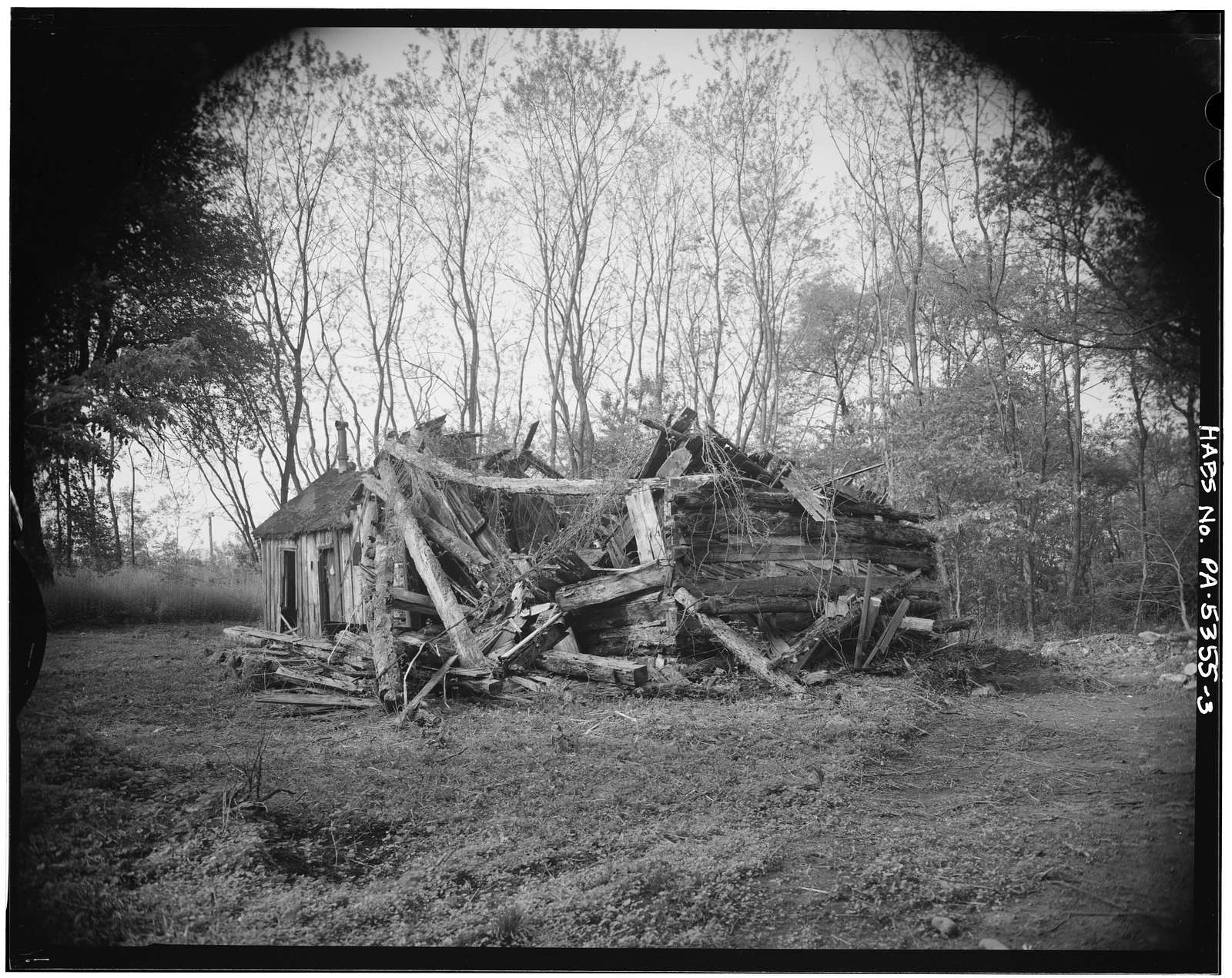 Gingher House (Ruins), Legislative Route 14010 (Boggs Township), Curtin, Centre County, PA