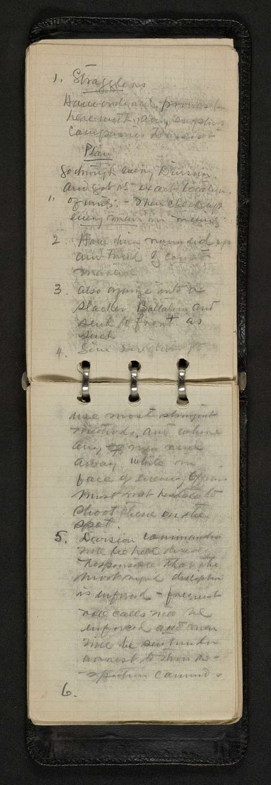 John J. Pershing Papers: Diaries, Notebooks, and Address Books, 1882-1925; Notebooks; circa 1917-1919 (2 of 3)