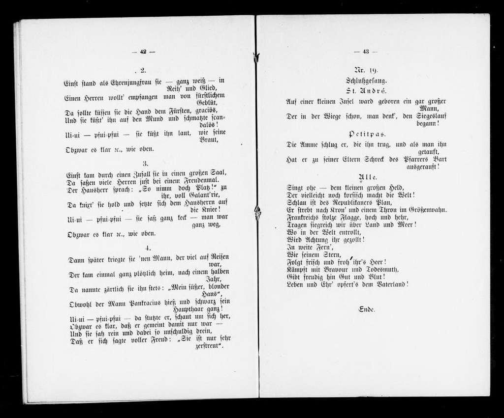 Little corporal. Libretto. German